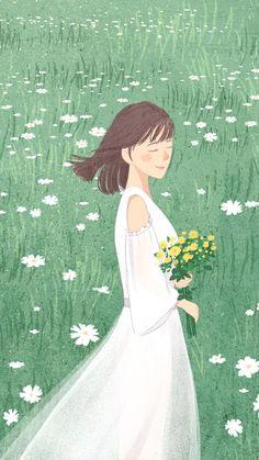 Anime Drawings Sketches, Cute Drawings, Principe William Y Kate, Cuadros Diy, Tumblr Art, Beautiful Gif, Anime Scenery, Cute Illustration, Anime Art Girl