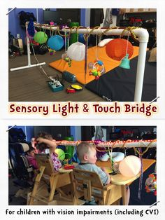 Hi friends! I am excited to share another DIY project: a sensory light bridge! This is another easy peasy project that you can make...