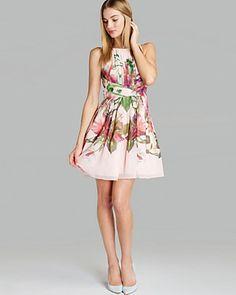 Ted Baker Dress - Carlii Symmetrical Orchid Print | Bloomingdale's