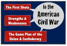 The American Civil War:  Strengths, Weaknesses, & The Game Plan of Both Sides!