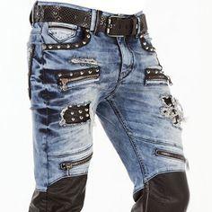 VERY TRENDY JEANS. choose sizes above. Patched Jeans, Denim Jeans Men, Jeans Pants, Cool Mens Jeans, Trendy Jeans, Kosmo Lupo Jeans, Denim Wash, Jeans Straight, Denim Jeans