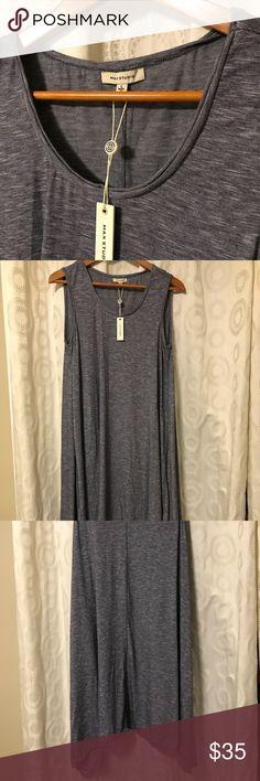 "Max studio blue dress NWT Max studio sleeveless dress. New with tags. Blue color. Hits just below the knee on me. I'm 5'10"". Nice drapey/flowy fabric. Max Studio Dresses Midi"