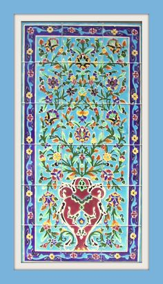 Hand Paint Ceramic Tiles Painting Ceramic Tiles, Tile Art, Hand Painted Ceramics, Patterns, Rugs, Home Decor, Historia, Hand Painted Pottery, Block Prints
