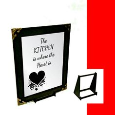 Kitchen Quote Engraved Mirror Only Kitchen Quotes, Where The Heart Is, Wall Hanger, Mirrors, Adhesive, Gifts, Presents, Cooking Quotes, Favors