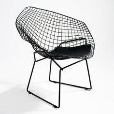 Henry Bertoia wire backed diamond chair Mid Century Modern Design