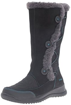 Jambu Womens Baltic Snow Boot Black 8 M US * Click on the image for additional details.(This is an Amazon affiliate link and I receive a commission for the sales)