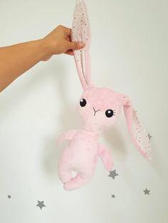 Cute Pink, Stuffed Animals, Baby Shower Gifts, Create Yourself, Cotton Fabric, Plush, Bunny, Dolls, Birthday