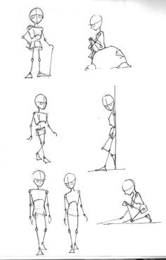 Poses 2 - My most creative list Stick Figure Drawing, Human Figure Drawing, Figure Sketching, Animation Sketches, Drawing Sketches, Character Design Animation, Character Drawing, Cartoon Drawings, Art Drawings