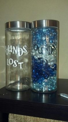 Such a cute idea ! Honestly you can just use voss water bottles and save them or use a Mason jar !