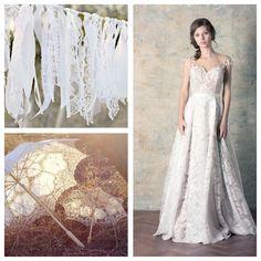 Rochie de mireasa simpla, in nuante nude si ivory, cu organza florala Lace Wedding, Wedding Dresses, Couture Dresses, One Shoulder Wedding Dress, Floral, Collection, Fashion, Bride Dresses, Haute Couture Dresses