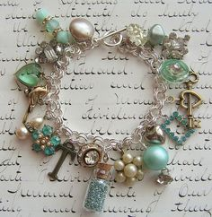 Vintage Trinket Jewelry - {I'm going to use this idea to make a bracelet using some of my Mom's clip-on earrings that I can't bear to toss but can't wear them myself as earrings. This is the perfect solution to get them out of the storage