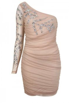 nude and sparkle party dress. awesome christmas party dress
