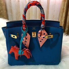 Hermes Birkin Bag With Togo Leather. Gold Tone Hardware. Round Tote Handle. #Hermes #Birkin