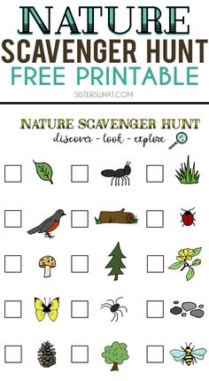 New Nature Crafts Preschool Scavenger Hunts 41 Ideas Camping Scavenger Hunts, Preschool Scavenger Hunt, Outdoor Scavenger Hunts, Nature Scavenger Hunts, Toddler Scavenger Hunt, Preschool Ideas, Nature Activities, Summer Activities, Family Activities