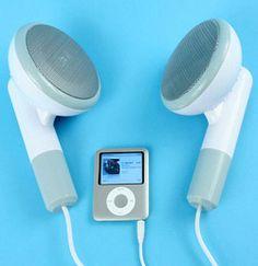 Oversized speakers that look like earbuds!