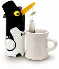 penguin tea bag holder! I want one of these cute little guys!