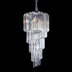 Dale Tiffany GH10084 8 Light Waterfall Chandelier, Polished Chrome - Lighting Universe