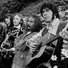 Graham Nash, Steven Stills, David Crosby and Neil Young
