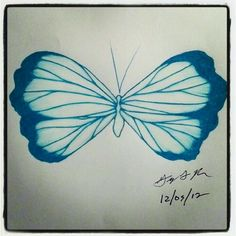 "100 butterflies in 100 days, Day 63 - ""Precious"", medium: color pencil"