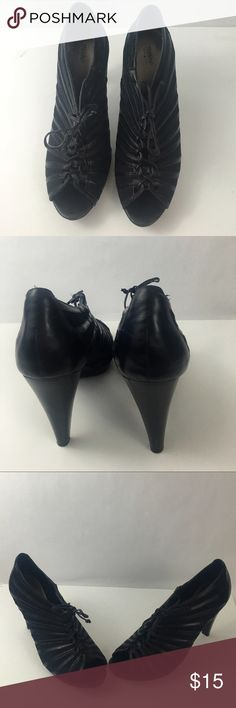 """Mossimo Black Lace Up Heels with size 10 Trendy Black Mossimo Lace Up 4"""" Platform Heels, also 1/2 inch platform at the front of the shoe. These will be a great addition to your wardrobe. Thanks for shopping my closet! Mossimo Supply Co Shoes Heels"""
