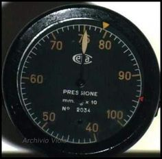 Image result for italian aircraft instruments speed indicator
