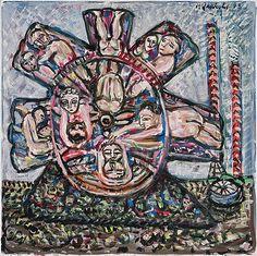 Alpo Jaakola: Elämänpyörä, 1978, öljy kankaalle, 110x110 cm - Bukowskis F179