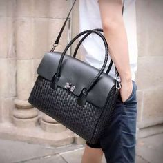 Leather Briefcase, Leather Bags, Leather Handbags, Man Bags, Handbags For Men, Briefcases, Men's Wardrobe, Design Inspiration, Collections