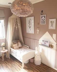 What a gorgeous little girl's room! A4 Lightbox, Miffy lamp and Eos light shade are all available online.