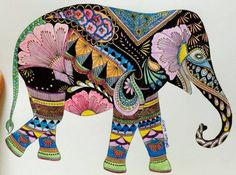 'I get some really really random requests for animals sometimes,' Marotta says. 'And people will often colour an image and send it to me, with quite a personal message – they chose to colour in an elephant for such and such a reason. It's nice to have a personal touch.'