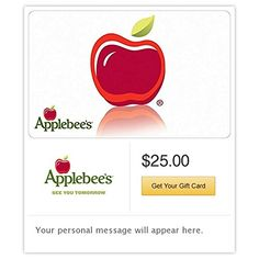 Applebees Apple Gift Cards  Email Delivery >>> Check out this great product.Note:It is affiliate link to Amazon. #MakeaGift