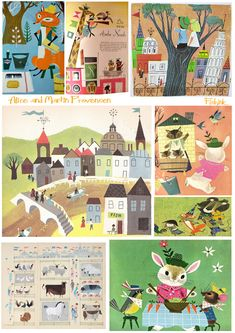 Vintage Illustration by husband and wife team Alice and Martin Provensen, I absolutely love them.