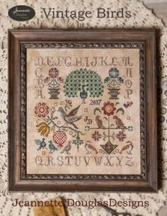 "JEANETTE DOUGLAS ""Vintage Birds"" 