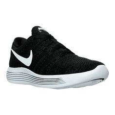 be71faea39f 2018 Official Mens Nike LunarEpic Low Flyknit Running Shoes Black White  Anthracite 843764 002