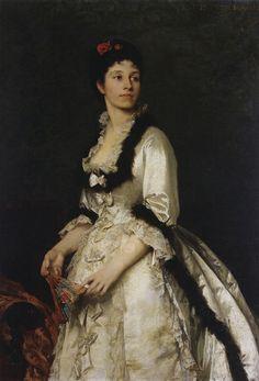 Portrait de la baronne Élisée de Montagnac, 1870-1871 by Eduardo Blanchard  https://secure.flickr.com/photos/hauksven/9205239876/sizes/h/