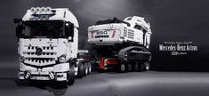 Hello everyone, let me introduce my New Moc Mercedes-Benz Actros Tractor - Technic Figure 1:1, It has 1 XL motor for drive and 1 M motor, I have two mining ...
