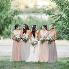 Missed matched bridesmaid dresses