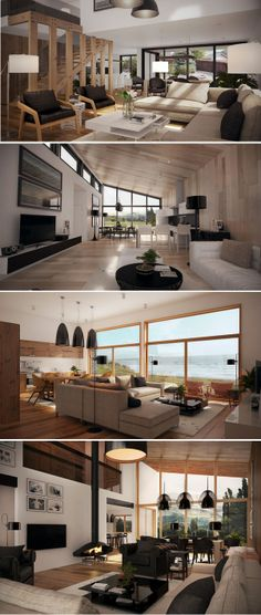 Interior Design, Living rooms with warm colors.
