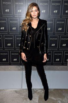 Gigi Hadid en BALMAIN x H&M