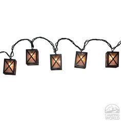 Star Lantern Lights, 7.8', 10 Bulbs - Four Corners - Patio Lights