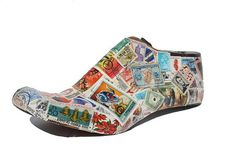 Stamps decoupageshoe last woodcobbler shoe formswooden On Shoes, Me Too Shoes, Shoe Boots, Decoupage Shoes, Top Gifts For Men, Christmas Gift Inspiration, Clarks Boots, Shoe Molding, Shoe Story