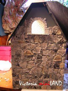 egg carton stone wall