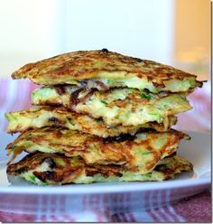 Bacon and Green Onion Zucchini Pancakes