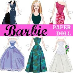 Classic #BARBIE Paper Dolls (FREE Printables)