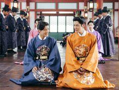 Kang Haneul and Jong Hyun Moon Lovers Scarlet Heart Ryeo, Moon Lovers Drama, Kang Haneul, Korean Tv Series, Hong Jong Hyun, Korean Drama Quotes, Wang So, Hello My Love, Weightlifting Fairy Kim Bok Joo