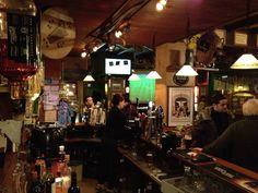 From behind the bar in Charly O'Neills Famous Irish Pub, Geneva, Switzerland