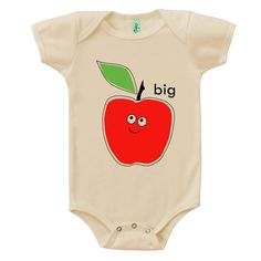 Organic cotton short sleeve baby onesie with screen by BuggedOut