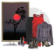 """""""Serengeti Sunset"""" by franceseattle ❤ liked on Polyvore featuring Raxevsky, The Kooples, Altuzarra, Jimmy Choo, Elizabeth and James, Chanel, NARS Cosmetics, Anna-Karin Karlsson and OPI"""