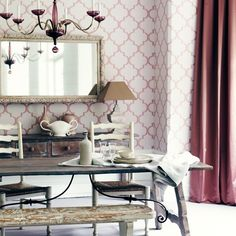 Esszimmer Wohnideen Möbel Dekoration Decoration Living Idea Interiors home dining room - Blush Pink Esszimmer