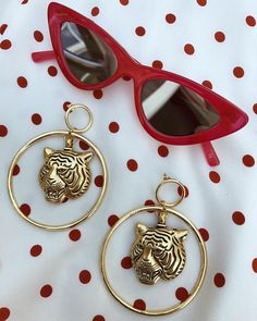 "3,163 Likes, 34 Comments - Vanessa Mooney (@vanessamooney) on Instagram: ""The Latifah Tiger Gold Earrings🥀⭐️Cool⭐️"""