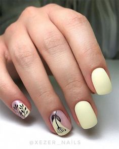 Stylish Nails, Trendy Nails, Nail Art Cute, Nagellack Trends, Short Nail Designs, Best Acrylic Nails, Shellac Nail Art, Hot Nails, Nail Polish Designs